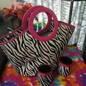 Handbags - Beach bag with drink holders